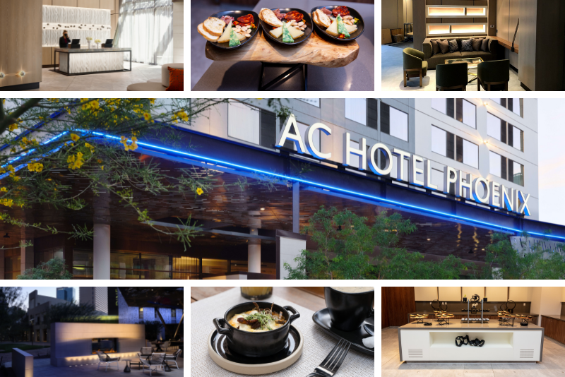 images of the AC Hotel Marriott Downtown Phoenix